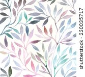 watercolor floral pattern....   Shutterstock .eps vector #230035717