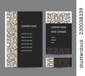 vintage ornate business cards... | Shutterstock .eps vector #230038339