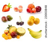 fruit set   Shutterstock . vector #23003848