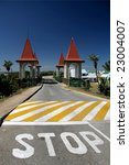 Stop Painted On Road Before...