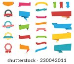 flat design of web stickers ... | Shutterstock .eps vector #230042011
