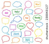 set of colorful  hand drawn... | Shutterstock .eps vector #230043127