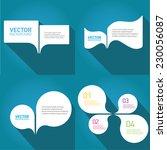 white cut paper speech bubbles... | Shutterstock .eps vector #230056087