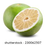 Sweet Green Grapefruit Isolated ...