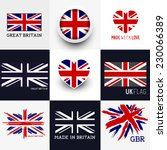set of various british flags... | Shutterstock .eps vector #230066389