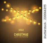 warm glowing christmas lights.  | Shutterstock .eps vector #230066395