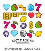 a collection of vector slot... | Shutterstock .eps vector #230067199