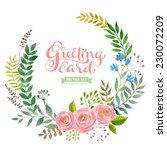 vector flowers set. colorful... | Shutterstock .eps vector #230072209