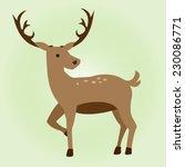 cute deer cartoon | Shutterstock .eps vector #230086771