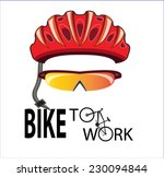 Bicycle Helmet And Sun Glasses...