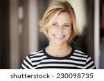 closeup of a mature woman... | Shutterstock . vector #230098735