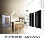 abstract sketch design of... | Shutterstock . vector #230100421