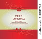 christmas greeting card. vector ... | Shutterstock .eps vector #230104264