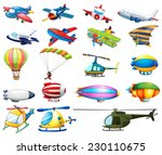 different modes of air... | Shutterstock .eps vector #230110675