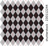 Argyle Black  Red And Gray...