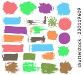 vector ink grunge stains shapes.... | Shutterstock .eps vector #230119609