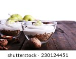 Oatmeal With Yogurt In Bowls ...