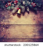 christmas fir tree with... | Shutterstock . vector #230125864