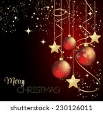 merry christmas card with red... | Shutterstock .eps vector #230126011