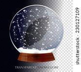 christmas transparent snowglobe   Shutterstock .eps vector #230127109