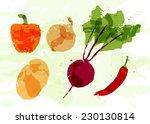 set of colorful fresh...   Shutterstock .eps vector #230130814