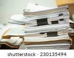 big business paper pile | Shutterstock . vector #230135494