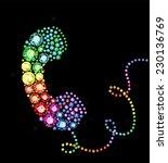 gem telephone handset | Shutterstock .eps vector #230136769