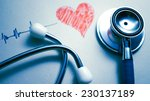 stethoscope and heart painted ... | Shutterstock . vector #230137189