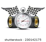 concept banner car racing and... | Shutterstock . vector #230142175