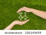 two woman's open hands making a ... | Shutterstock . vector #230143459