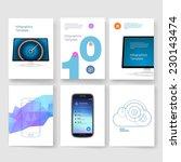abstract vector brochure... | Shutterstock .eps vector #230143474