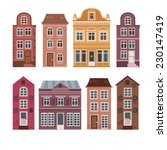 Vector Set Of Houses In The...