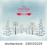 Christmas Winter Landscape Wit...