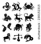 the twelve astrology horoscope... | Shutterstock .eps vector #230152315