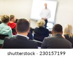 speaker at business workshop... | Shutterstock . vector #230157199