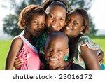 happy african mother and her... | Shutterstock . vector #23016172