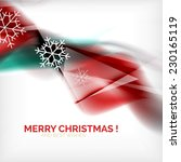 red color christmas blurred... | Shutterstock .eps vector #230165119