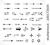 set of technology arrows.... | Shutterstock .eps vector #230172034