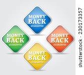 money back guarantee colorful... | Shutterstock .eps vector #230173357
