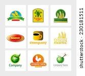 set of 9 vector elements for... | Shutterstock .eps vector #230181511