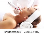 Needle mesotherapy.beautician...