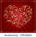 valentine's day decoration | Shutterstock .eps vector #23018836