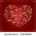 valentine's day decoration | Shutterstock .eps vector #23018836