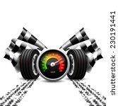 racing background  speedometer  ... | Shutterstock .eps vector #230191441