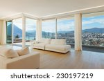 interior modern empty room | Shutterstock . vector #230197219