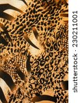 Small photo of texture of print fabric stripes leopard for background