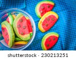 close up cookies on desk | Shutterstock . vector #230213251