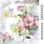"floral background ""spring... | Shutterstock . vector #230219431"