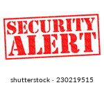 Постер, плакат: SECURITY ALERT red Rubber