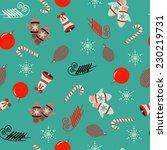 seamless christmas vector... | Shutterstock .eps vector #230219731